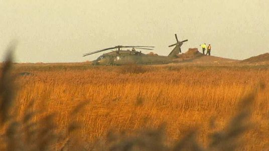 Crashed US helicopter in Norfolk