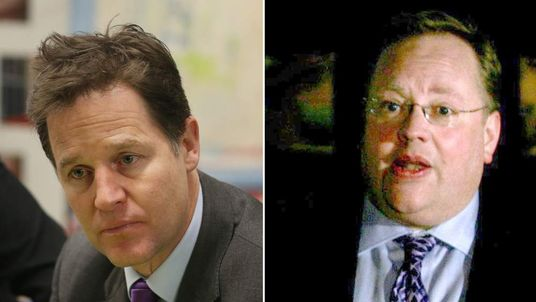 Deputy Prime Minister Nick Clegg And Lord Rennard
