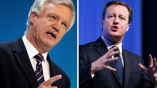 David Cameron (R) and David Davis (L)