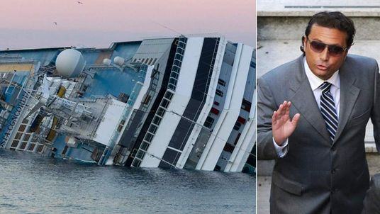 The Costa Concordia and its captain, Francesco Schettino