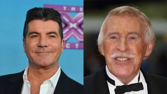 Simon Cowell and Sir Bruce Forsyth