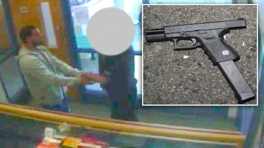 Newly released stills showing the Glock pistol used by Dale Cregan and CCTV images of Cregan handing himself in at the police station