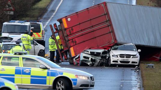 The scene of the fatal lorry crash