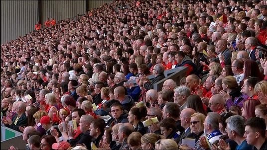 The crowd of 21,000 at Anfield