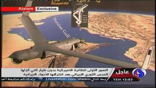 Iran state TV image of US ScanEagle drone it says has been captured