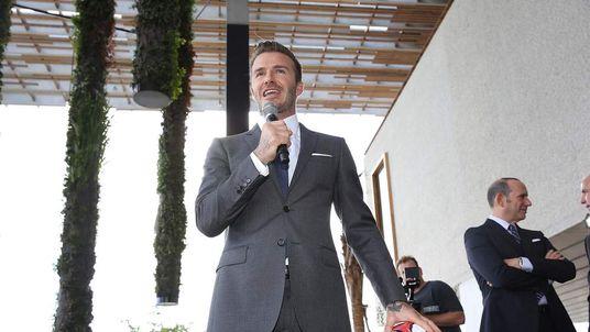 David Beckham, Commissioner Don Garber and Mayor Carlos Gimenez Press Conference