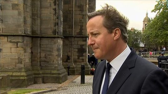 David Cameron in Glasgow
