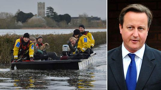 David Cameron says he has 'enormous sympathy' with victims of flooding