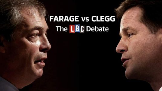 Nick Clegg Nigel Farage Debate