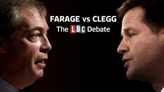Nick Clegg Nigel Farage Debate