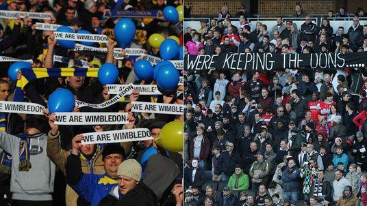 AFC Wimbledon and MK Dons fans