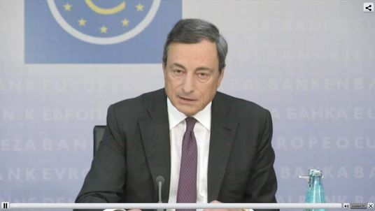 ECB Governing Council President Mario Draghi