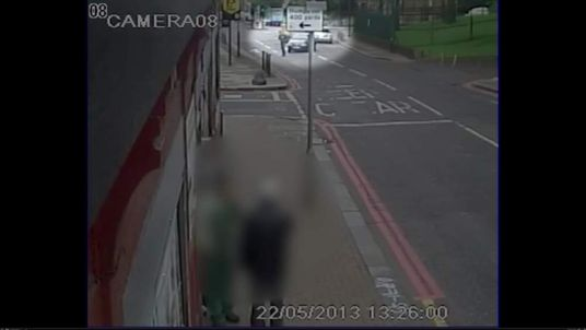 Drummer Lee Rigby is hit by a car in Woolwich, southeast London