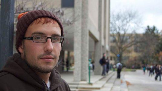 """Tristan Saffron-Cottrolo says some students find voting """"inconvenient""""."""
