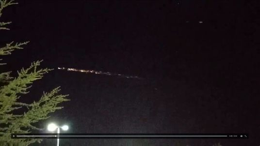 Debris of Chinese space rocket enters atmosphere over California