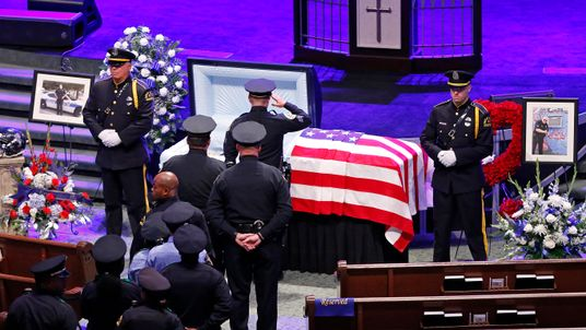 Funeral held for victims of Dallas shooting