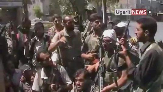 Rebel fighters in Aleppo, Syria