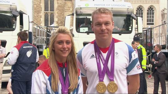 Laura Trott and Sir Chris Hoy