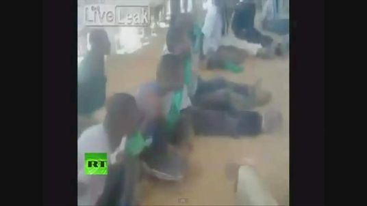 Black prisoners being abused in Libya