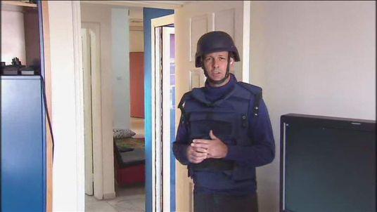 Sam Kiley in Sky's offices in Gaza