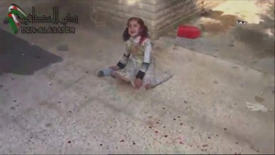 A little girl hurt in alleged cluster bomb attack in Syria