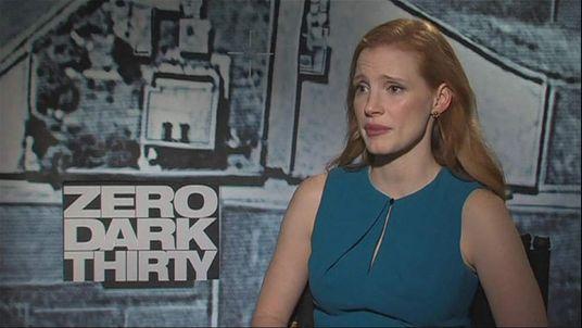 Jessica Chastain, star of Zero Dark Thirty, Osama Bin Laden movie