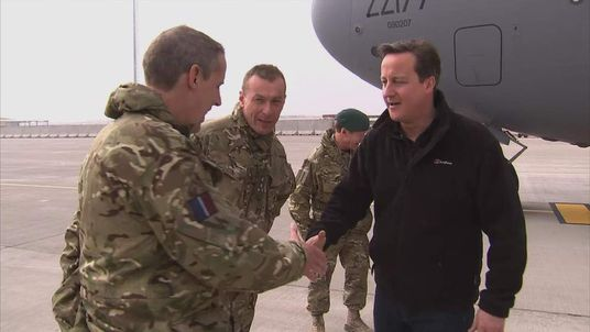 David Cameron meeting troops