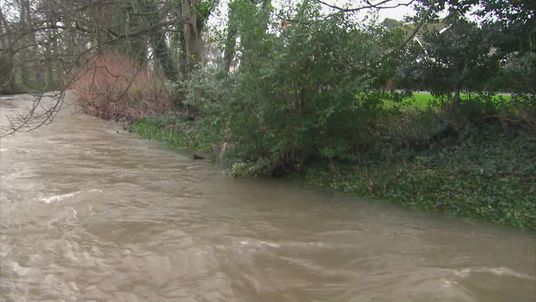 High water levels after flooding in Braunton, Devon