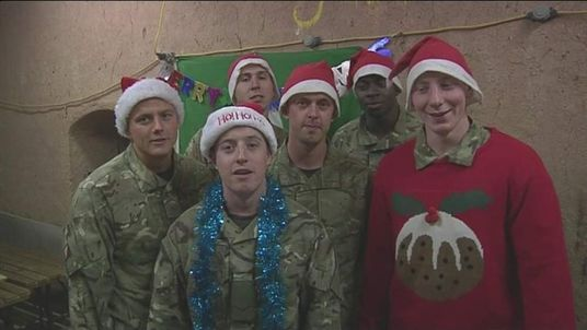 Christmas messages from British troops in Afghanistan