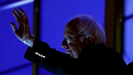 Bernie Sanders backers rain on Hillary Clinton's parade