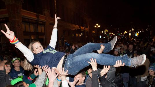 Fans Celebrate Super Bowl Win