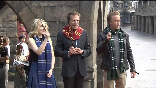 Evanna Lynch and Tom Felton