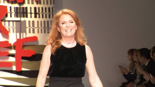 Duchess of York Sarah Ferguson on catwalk