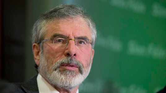 Gerry Adams holds a news conference in Belfast