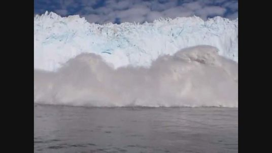 Glacier collapse throws up huge wave in Greenland