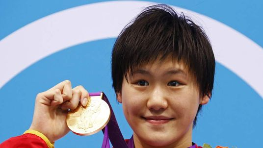 Chinese swimmer Ye Shiwen with 400m medley gold medal