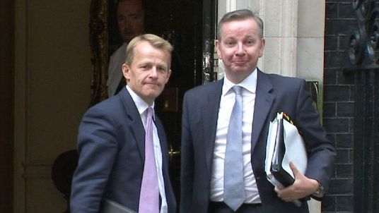 David Laws and Michael Gove at Downing Street