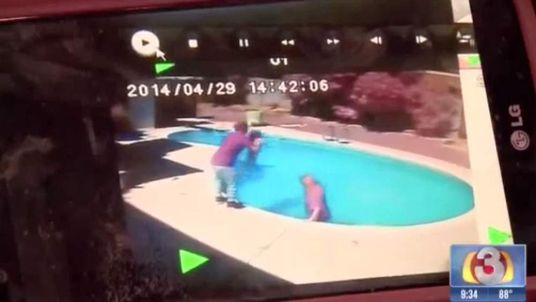 Dad 'Throws Toddler Into Pool'