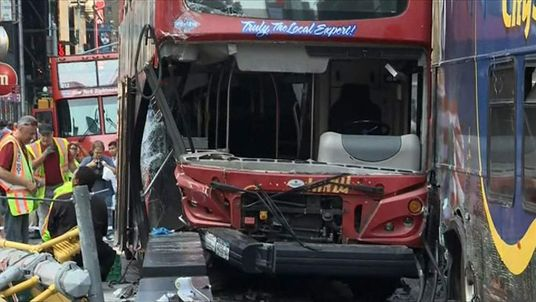 Buses collide In New York
