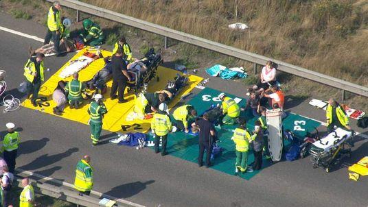 Injured people treated