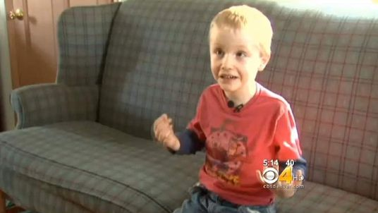 Hunter Yelton, 6, was suspended from school. Pic: CBS4/Denver.