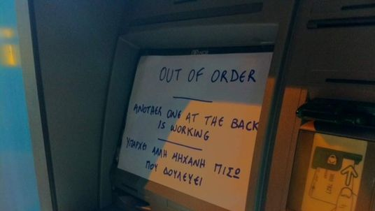 Out-of-order cashpoint in Cyprus