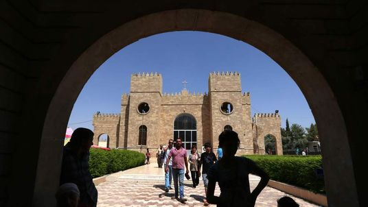 Christians who escaped militant attacks in northern Iraq fled to Irbil