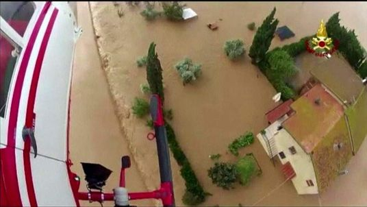 Flooding in the Albinia area of Tuscany.