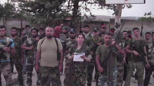 Female Free Syria Army recruit Thwaiba Kanafani