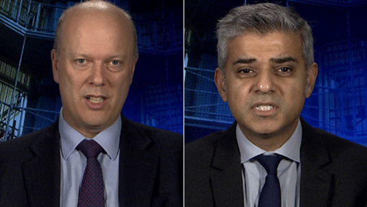 Chris Grayling and Sadiq Khan
