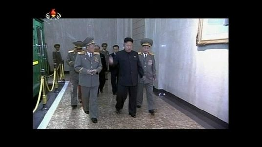 North Korean leader Kim Jong Un at the event to mark his grandfather's death 20 years ago