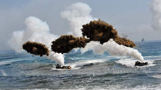 South Korea and the US conduct a joint military exercise in Pohang