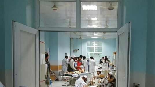 Staff and patients in Kunduz hospital before US air strike