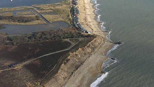 Milford-on-Sea coastal erosion